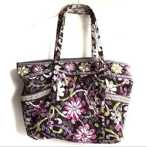 Vera Bradley Purple Punch Super Tote Retired Print